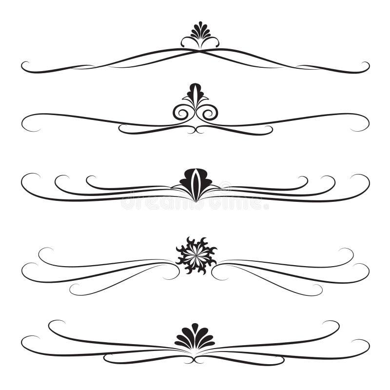 ozdobni dekoracj inkasowi dividers ilustracji