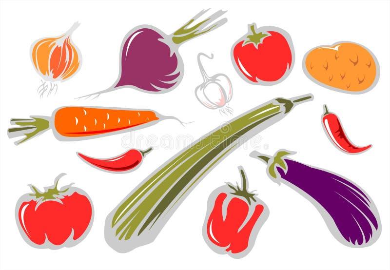 ozdobni warzywa royalty ilustracja
