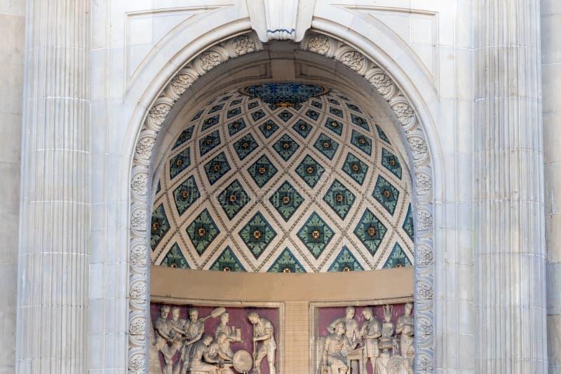 Ozdobny archway wejście zdjęcie stock