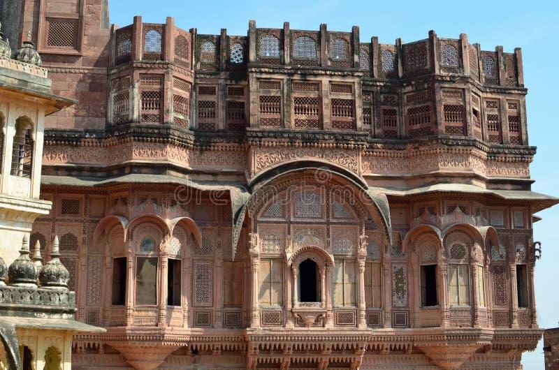 Ozdobny budynek, Jodhpur, Rajasthan, India obraz royalty free