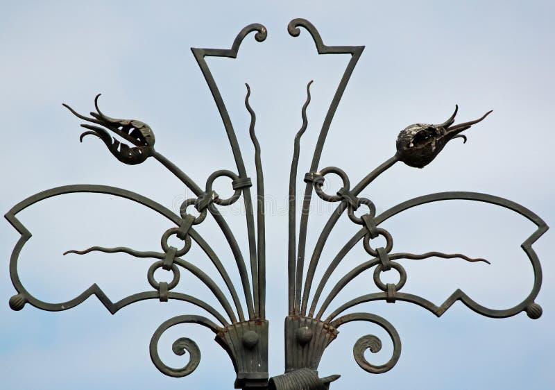 Ozdobny Dekoracyjny ogrodzenie zdjęcia royalty free