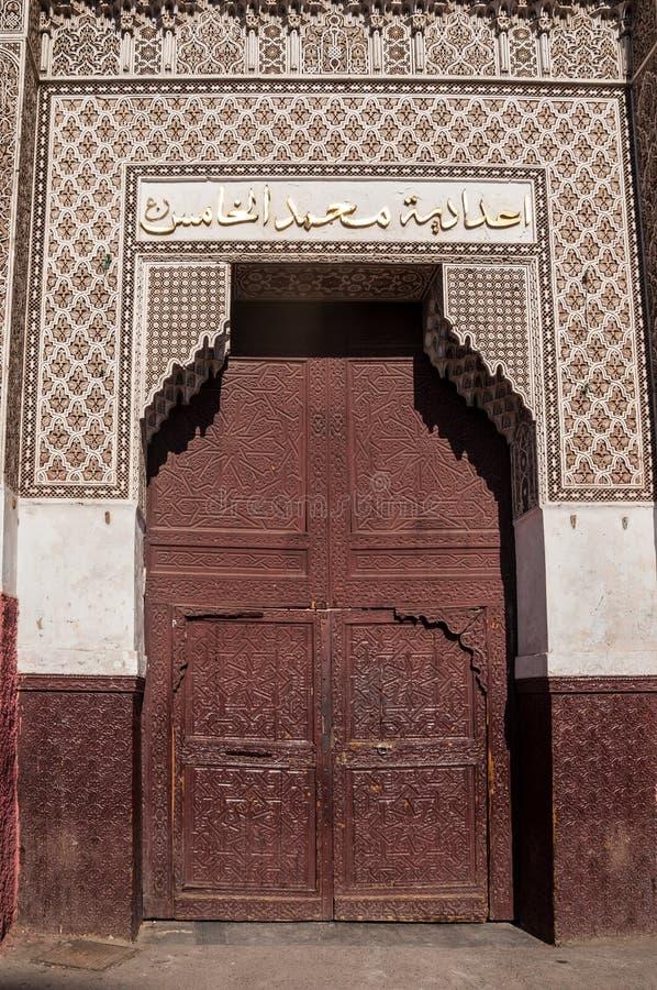 Ozdobny drzwi w Marrakech, Maroko obraz royalty free
