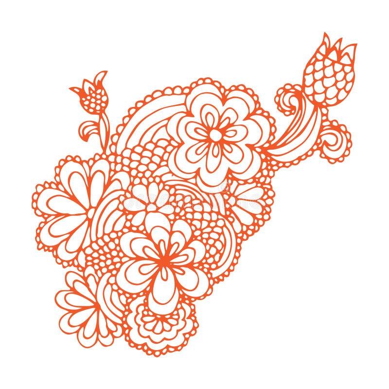 Ozdobny kwiatu projekt ilustracja wektor