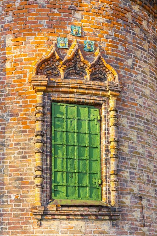 Ozdobny okno na zewnętrznym wystroju St John kościół baptystów fotografia royalty free