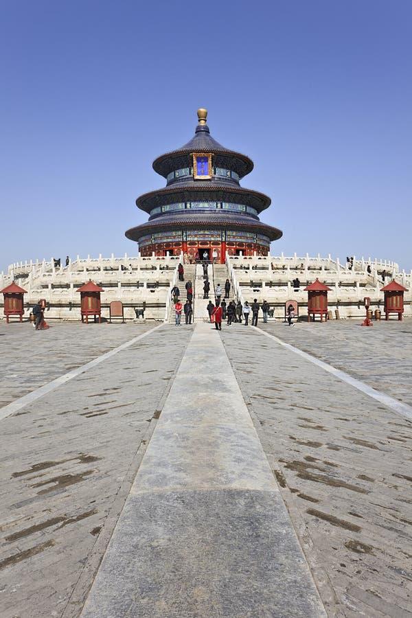 Ozdobny pawilon przy świątynią niebo, Pekin, Chiny obraz royalty free