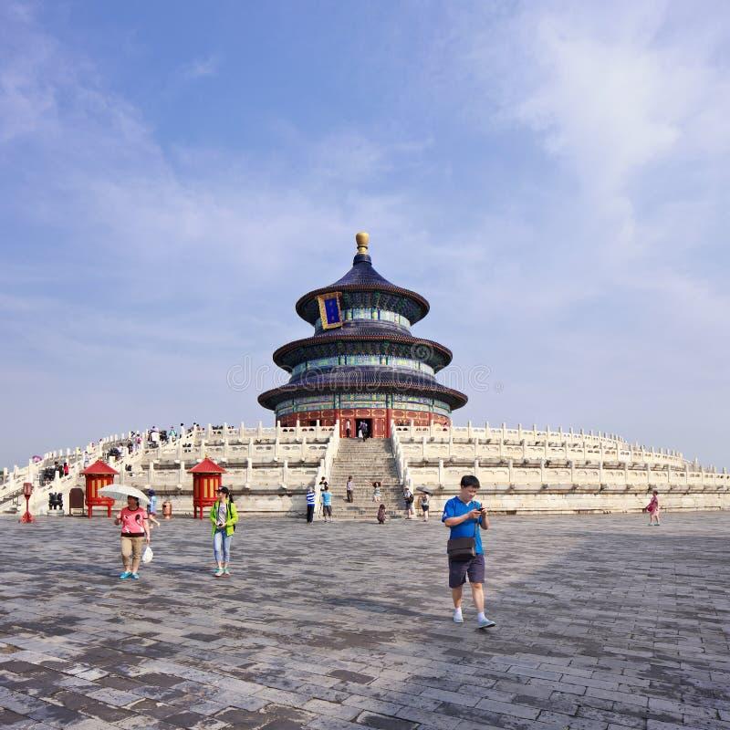 Ozdobny pawilon przy świątynią niebo, Pekin, Chiny obraz stock