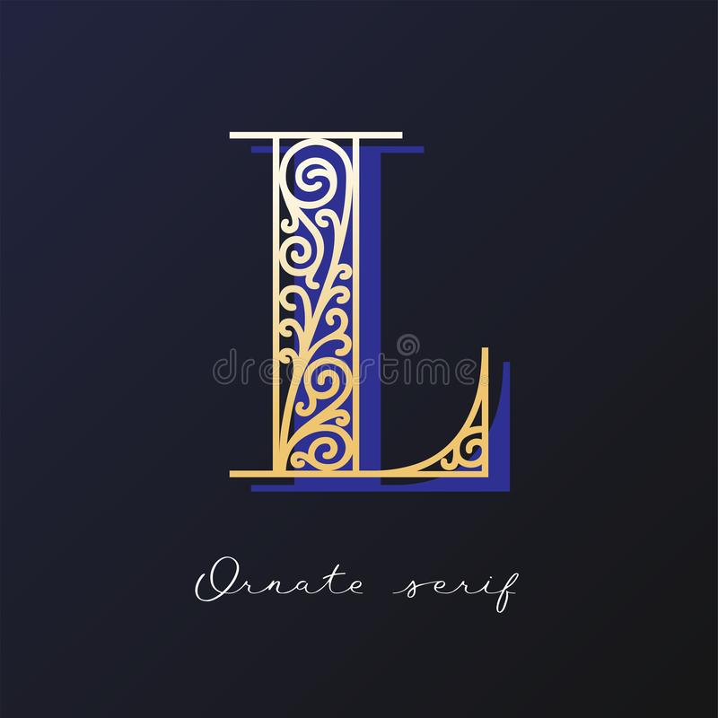 Ozdobny serif typeface fotografia stock