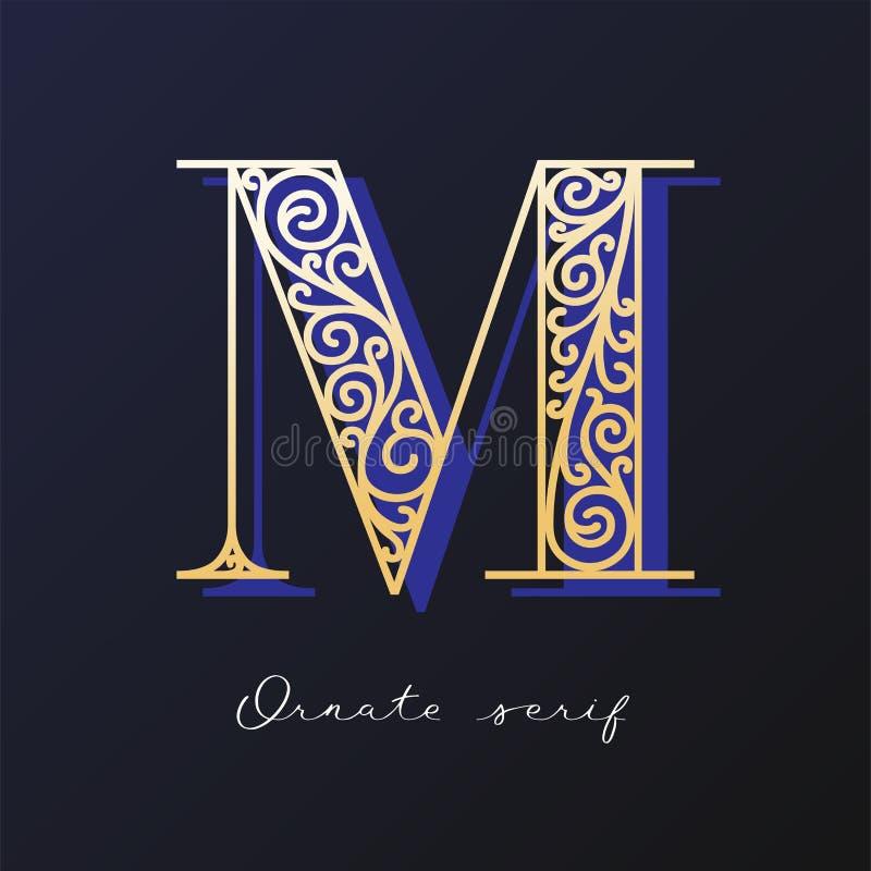 Ozdobny serif typeface obraz royalty free