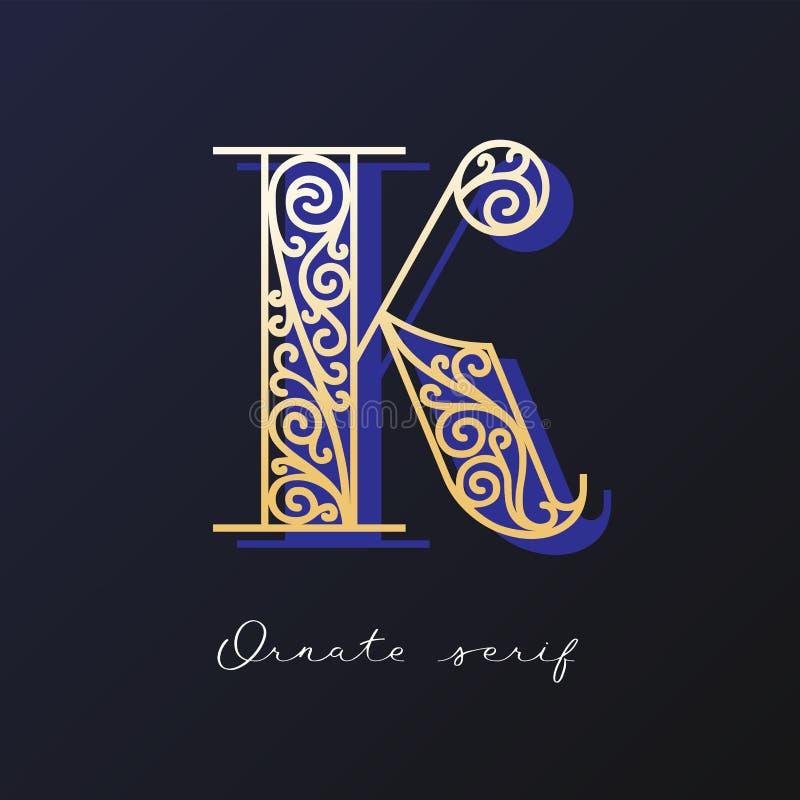 Ozdobny serif typeface obrazy stock