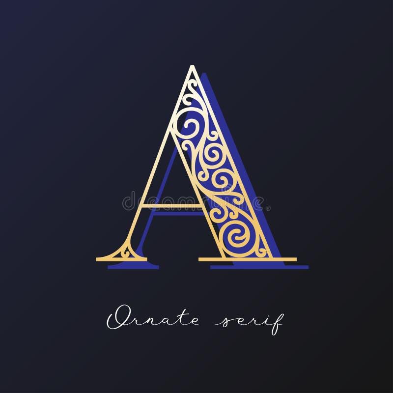 Ozdobny serif typeface zdjęcie stock