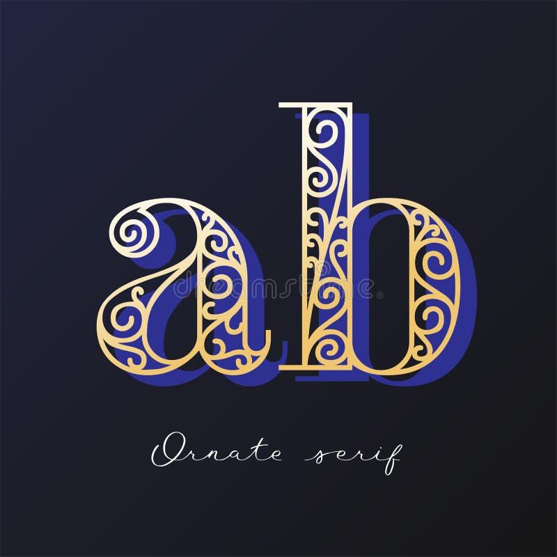 Ozdobny serif typeface zdjęcia stock