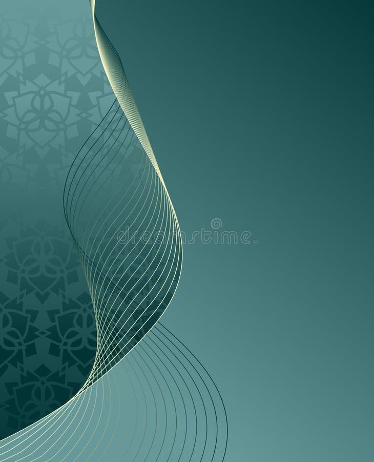ozdobny tło turkus ilustracji
