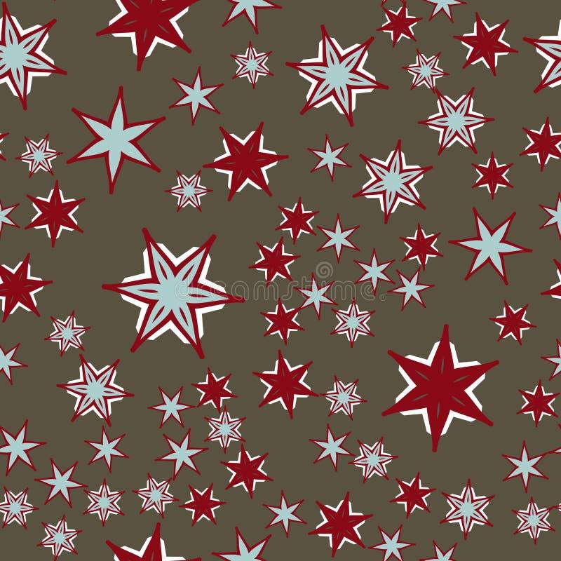 Ozdobnych płytek bezszwowa deseniowa tkanina Kolorowy patchwork dla druku meble, tapeta, modna tkanina endless ilustracji