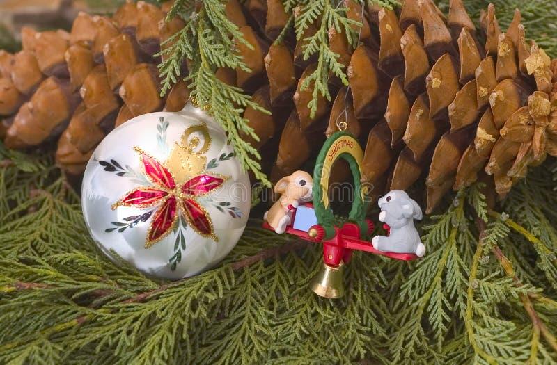 ozdoby świąteczne drzewko fotografia stock
