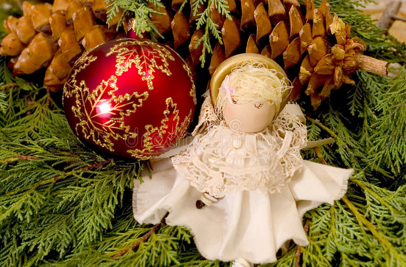 Download Ozdoby świąteczne drzewko zdjęcie stock. Obraz złożonej z tradycja - 43656