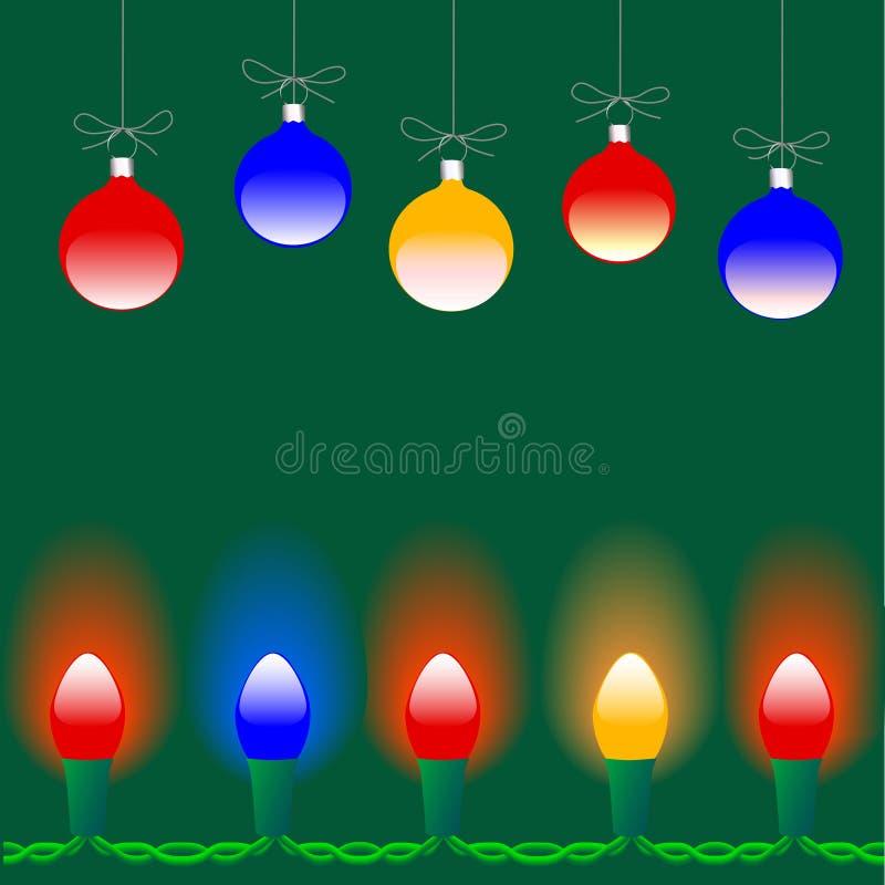 ozdoby świąteczne lampki ilustracji