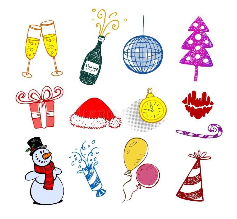 ozdoby świąteczne odłogowanie ilustracji