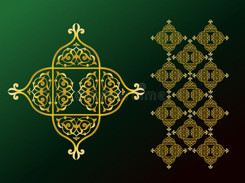 ozdoby arabskich royalty ilustracja