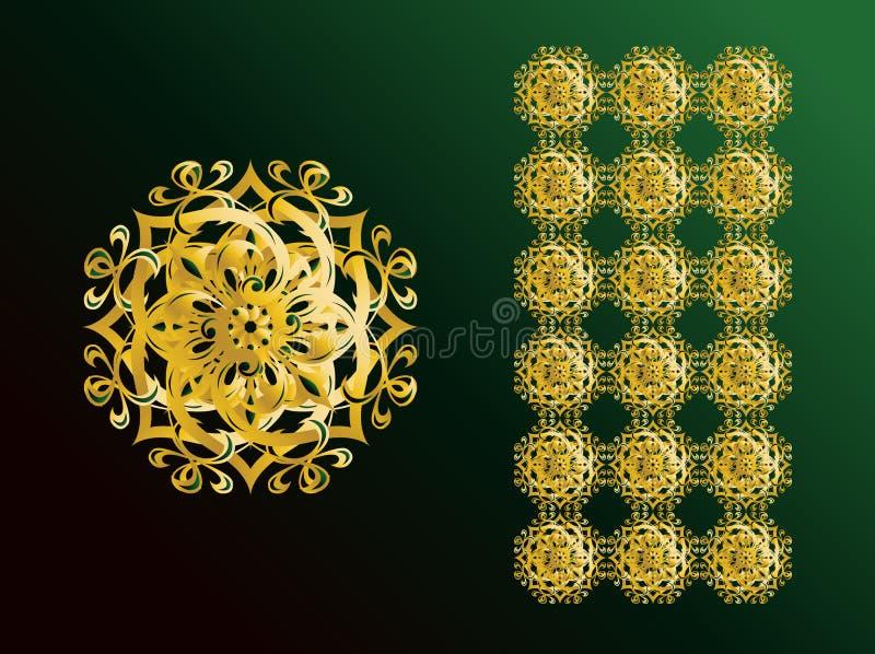 ozdoby arabskich ilustracja wektor