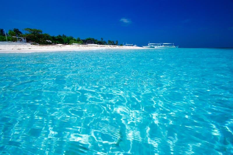 Ozean-Ansicht von Paradiesinsel lizenzfreies stockbild
