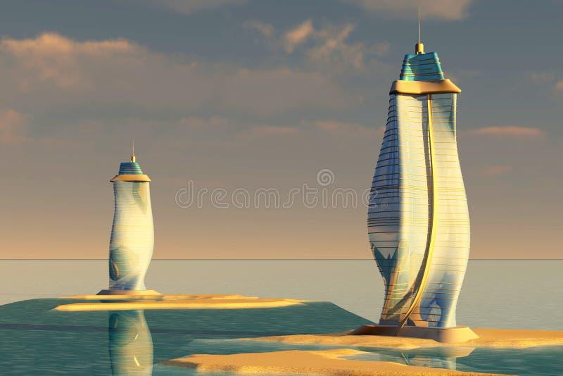 Ozean-Architektur lizenzfreie abbildung
