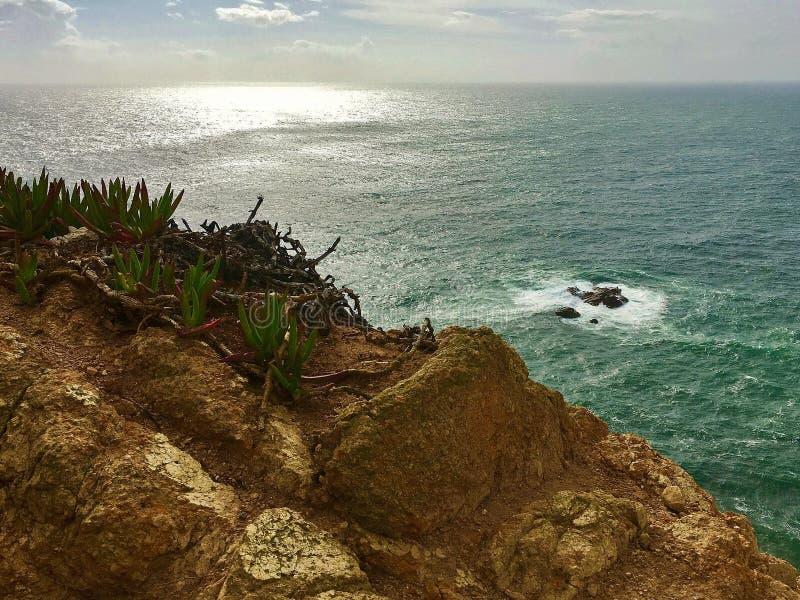 Ozean an einem Sommertag lizenzfreie stockfotografie