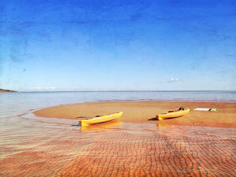 Ozean-Kajaks stockbilder