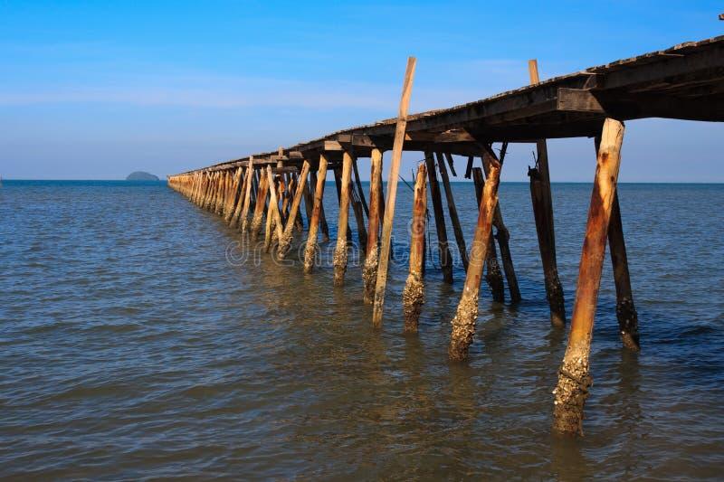 Ozean-Pier lizenzfreie stockfotografie
