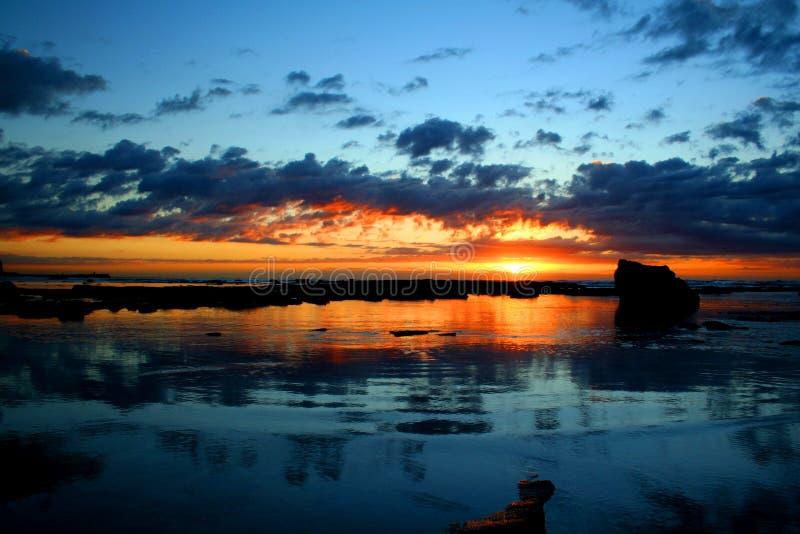 Ozean-Sonnenaufgang 2 stockfoto