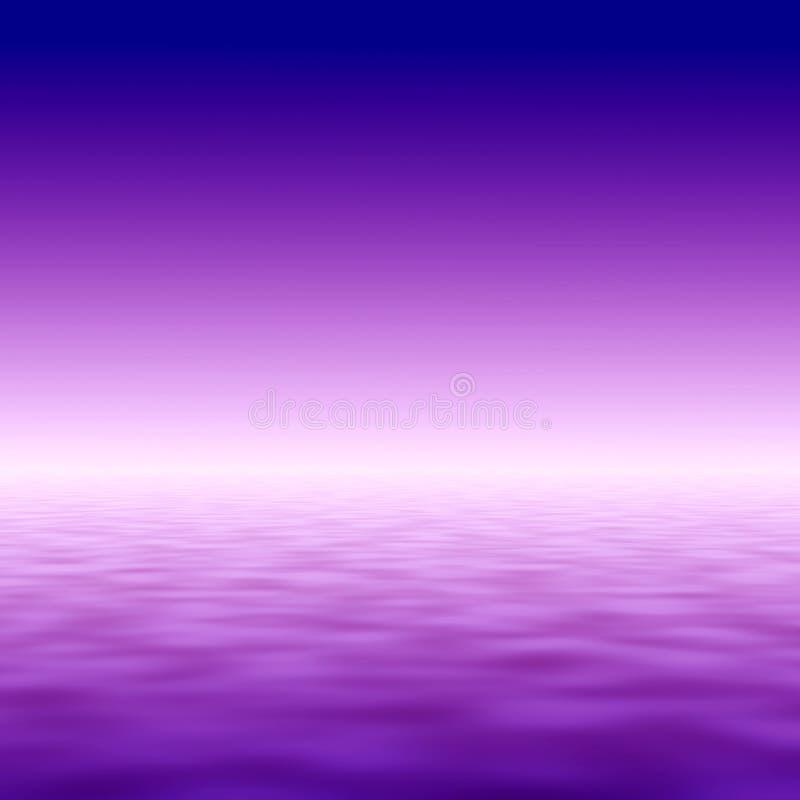 Ozean-Sonnenuntergangabbildung stock abbildung