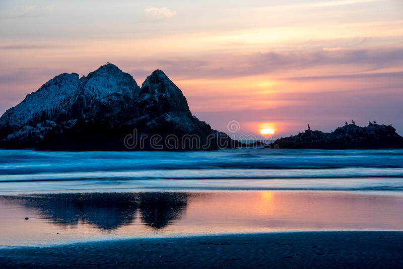 Ozean-Strand San Francisco, CA lizenzfreie stockfotos