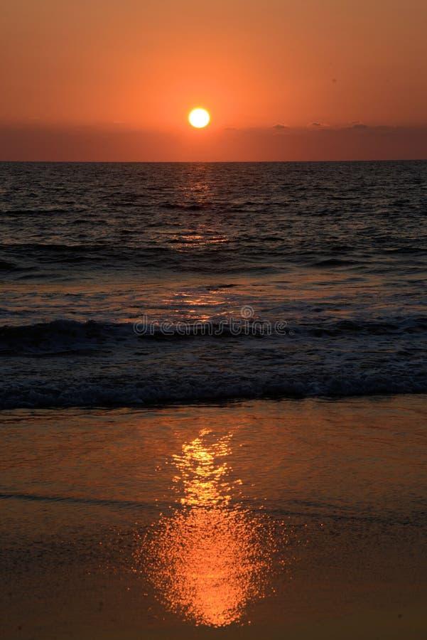 Ozean Sunset lizenzfreie stockfotos