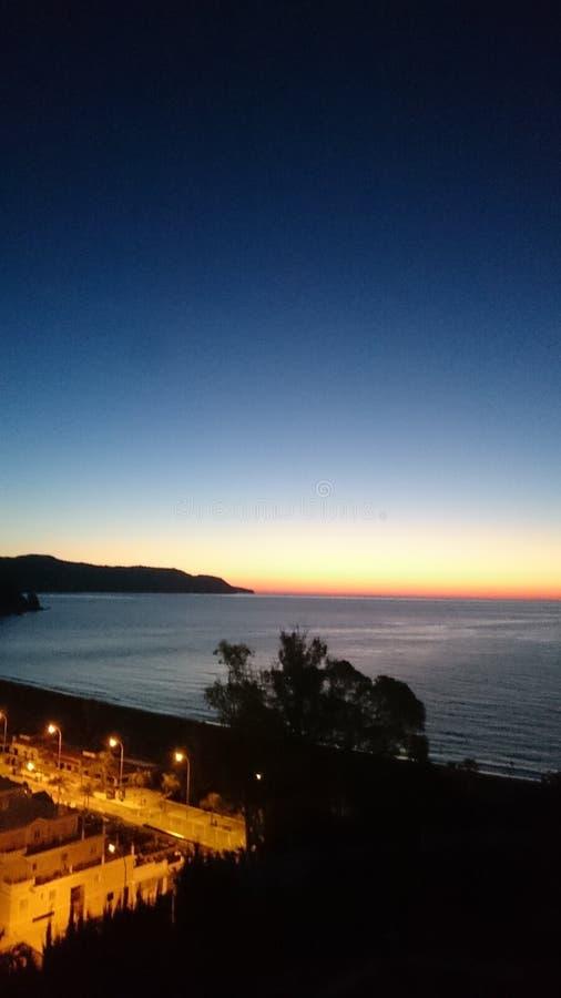Ozean Sunset lizenzfreies stockfoto