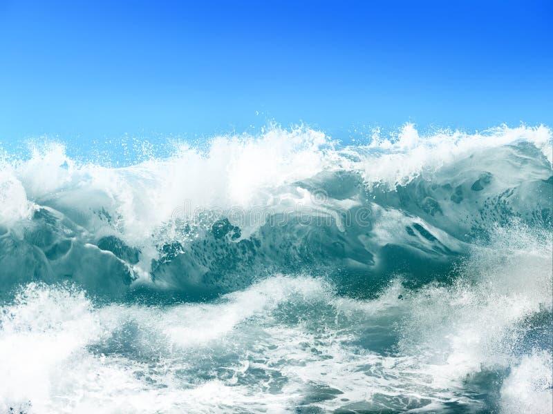 Ozean-Wellen lizenzfreie abbildung