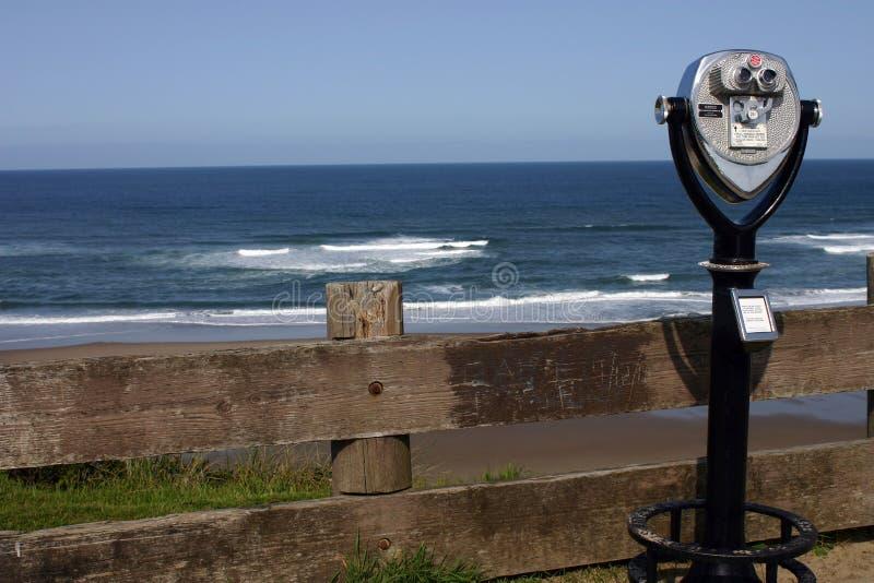 Download Ozeanansicht stockbild. Bild von binokular, pinsel, sand - 39821