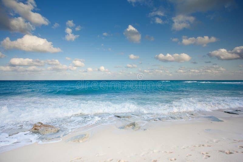 Ozeanansicht in Cancun stockfoto