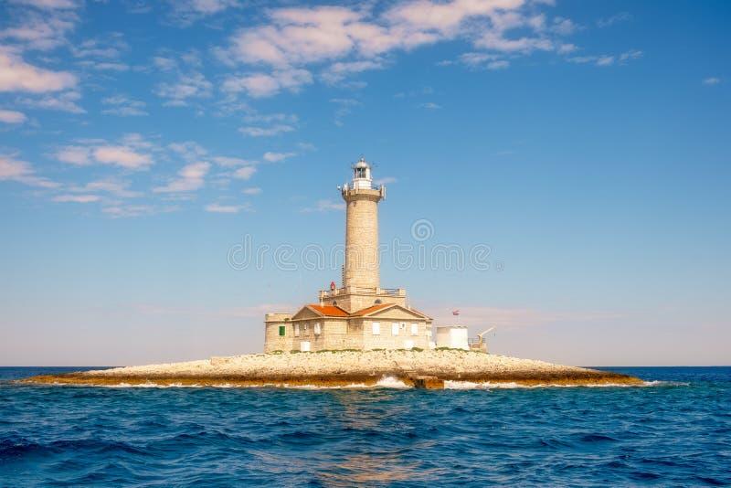 Ozeanleuchtturm auf Istria-Halbinsel, Kroatien lizenzfreies stockbild