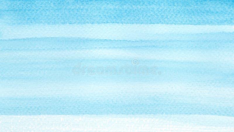 Ozeanmeer oder Türkisaquarellzusammenfassungshintergrund des Himmelblaus azurblauer Horizontale Watercoloursteigungsfülle Hand ge stockfotos