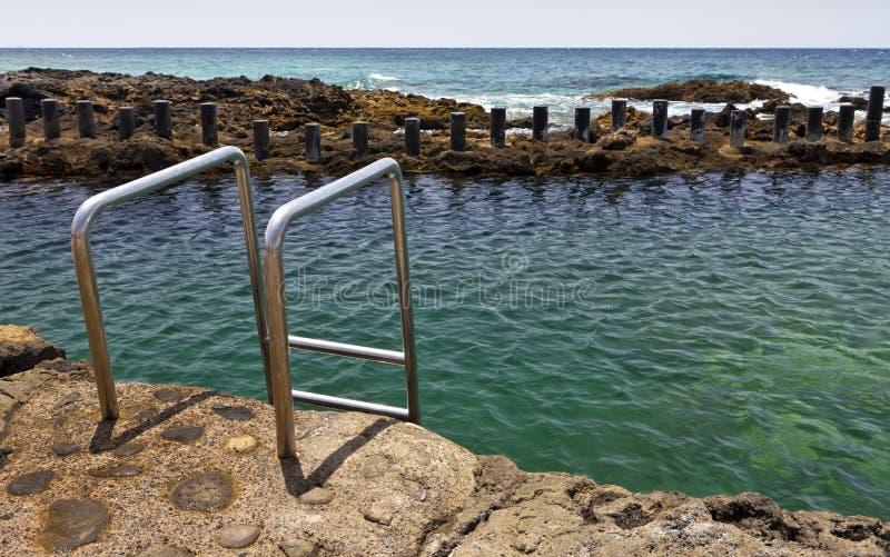 Ozeanpools von Puerto de Las Nieves, Gran Canaria lizenzfreies stockfoto