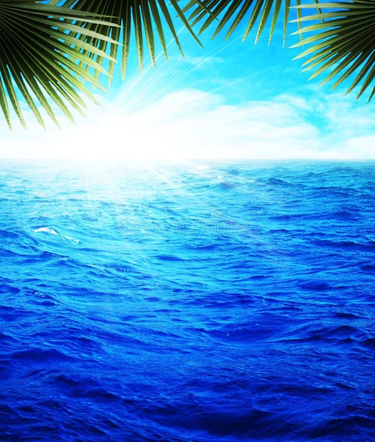 Ozeanstrand, Ferienhintergründe stockbilder