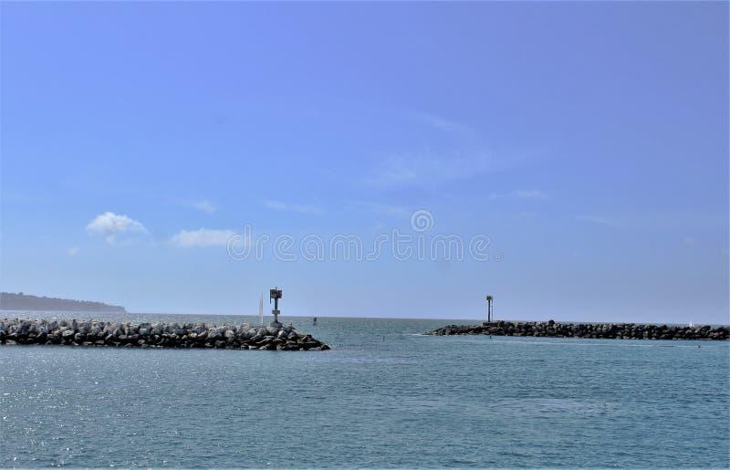 Ozeanufer Portifino Kalifornien in Redondo Beach, Kalifornien, Vereinigte Staaten stockfotos