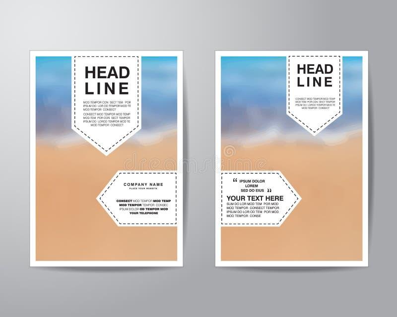 Oznacza tło broszurki ulotki projekta układu szablon wewnątrz i zamazuje royalty ilustracja