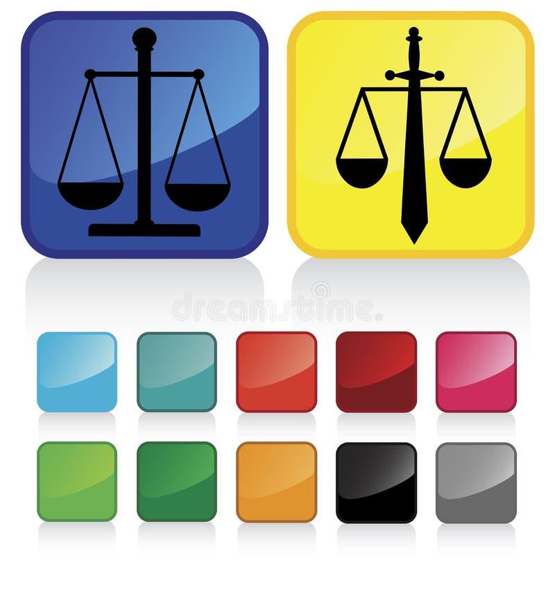 oznaka sprawiedliwości ilustracja wektor