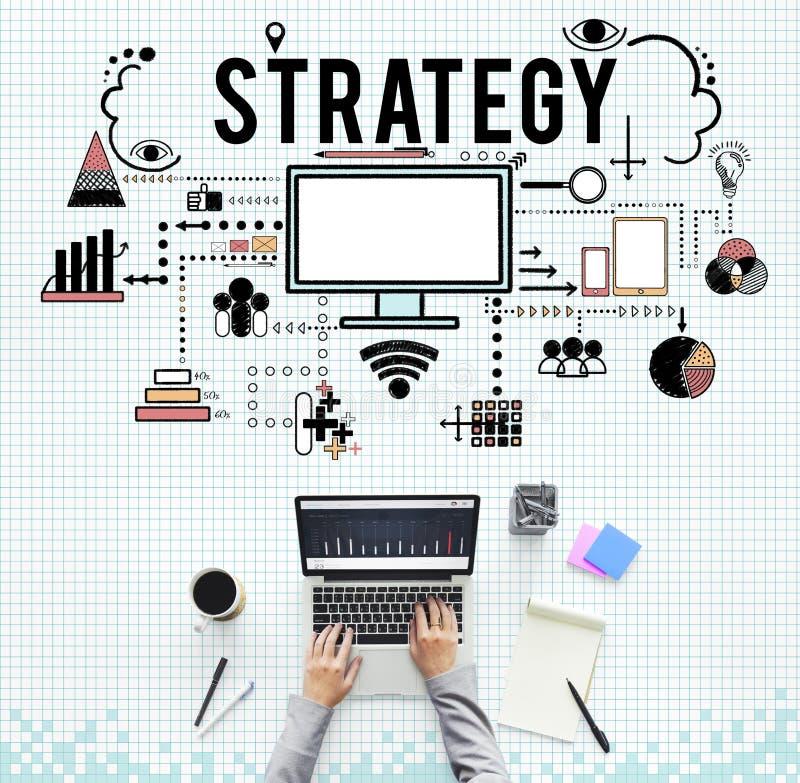 Oznakować Biznesowego strategii marketingowej pojęcie fotografia royalty free