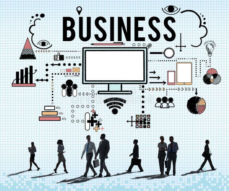 Oznakować Biznesowego strategii marketingowej pojęcie ilustracja wektor