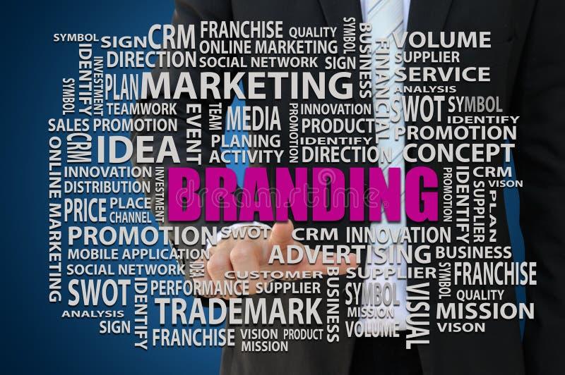 Oznakować Marketingowego pojęcie fotografia stock
