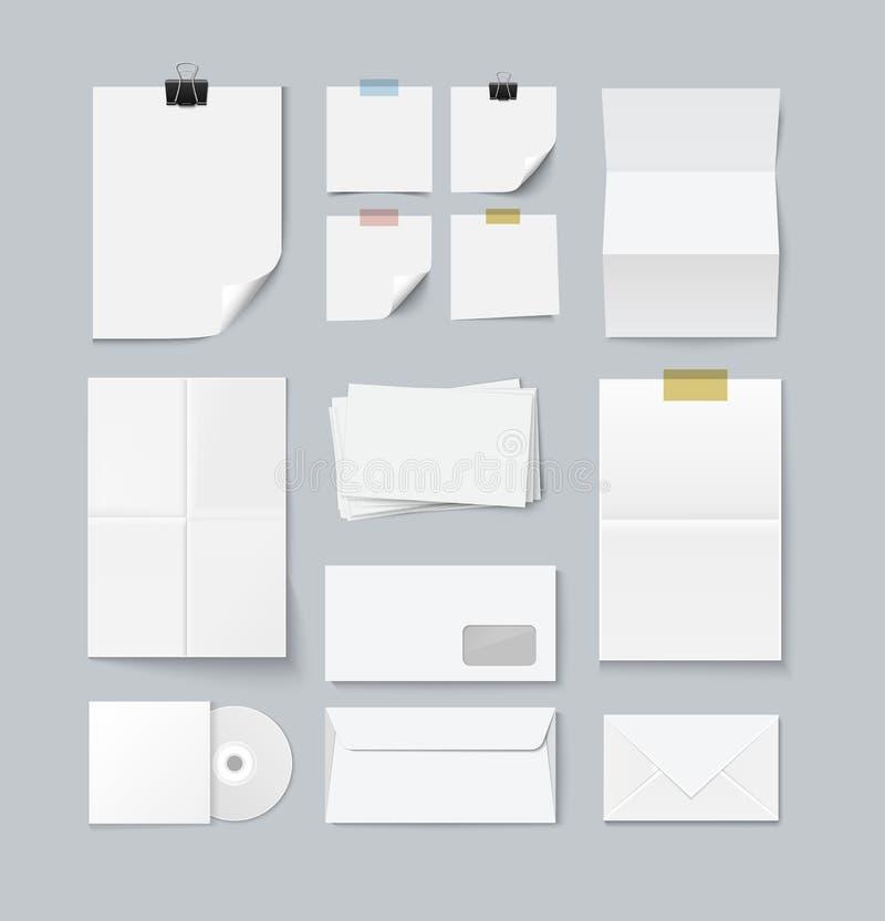 Oznakować ustalony papierowi szablony royalty ilustracja