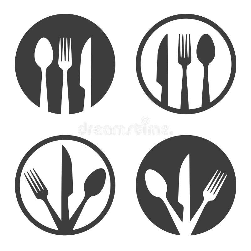 Oznakowanie tabliczki z noża widłowego ilustracji