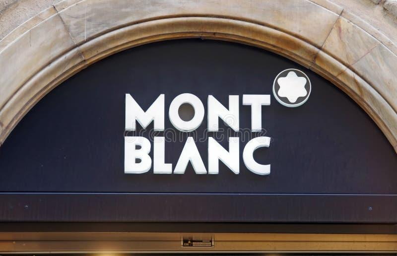 oznakuje luksusowego Montblanc obrazy stock