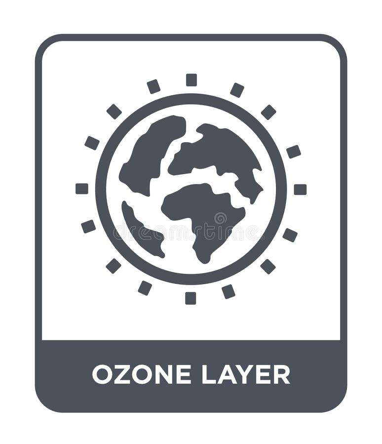 ozone layer icon in trendy design style. ozone layer icon isolated on white background. ozone layer vector icon simple and modern vector illustration